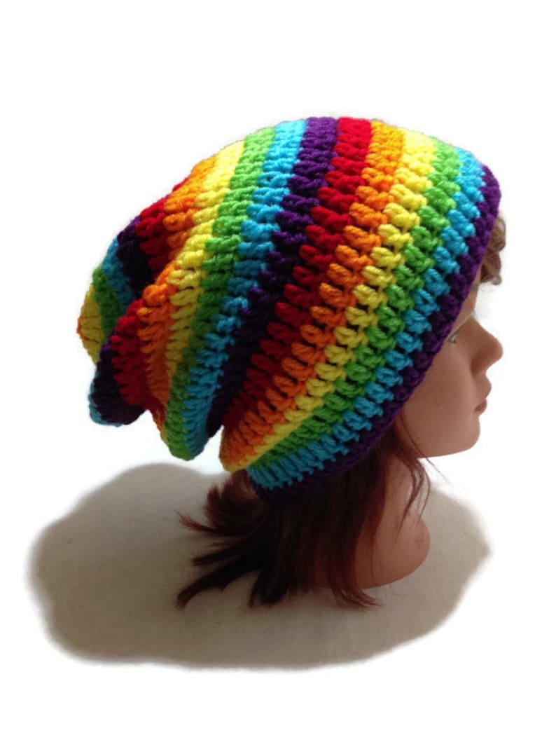 3537034803e Rainbow Slouchy Hat Ombre Rainbow Hat Rainbow Beanie