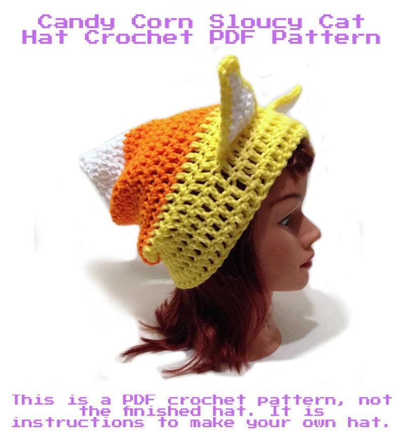e9554d208dd Candy Corn Hat Pattern Halloween Crochet Candy Crochet