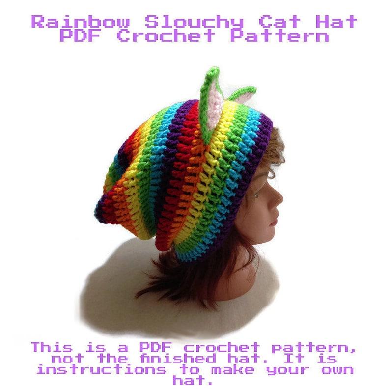 ed8fef9c742 Rainbow Cat Pattern Crochet Pattern Crochet Cat DIY