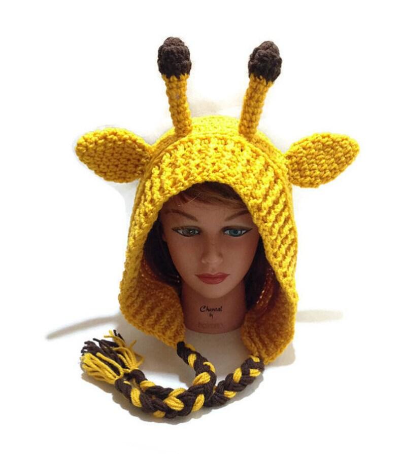 bdb9477e767 Giraffe Hat Giraffe Hood Giraffe Cosplay Crochet Giraffe