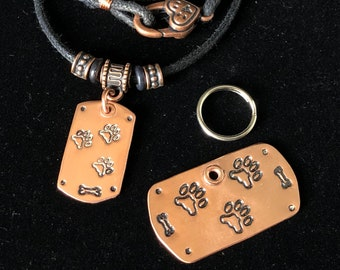 Tripawd Dog Tag Set for People and Pets