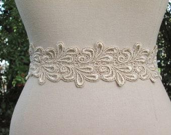 Metallic rose gold wedding sash,  Bridesmaid sash,  rose gold bridal belt, rose gold ribbon sash.