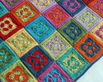 UK Terms Groovin' Crochet Blanket  PDF Crochet Pattern