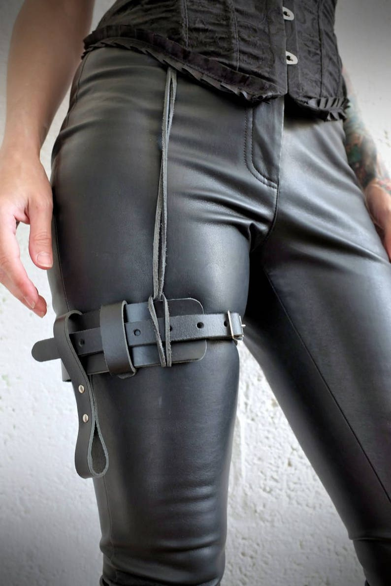 Leather Leg Garter Belt Steampunk