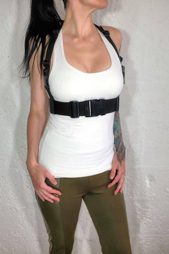 Leder Frei Medium Neckholder Brustgurt Für Männer Und Frauen   Schwarz Polypropylen   Lara Croft   Cosplay   Bushcraft   Apokalypse by Etsy