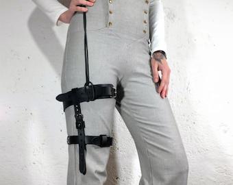 Leather Steampunk Garter Belt Unisex