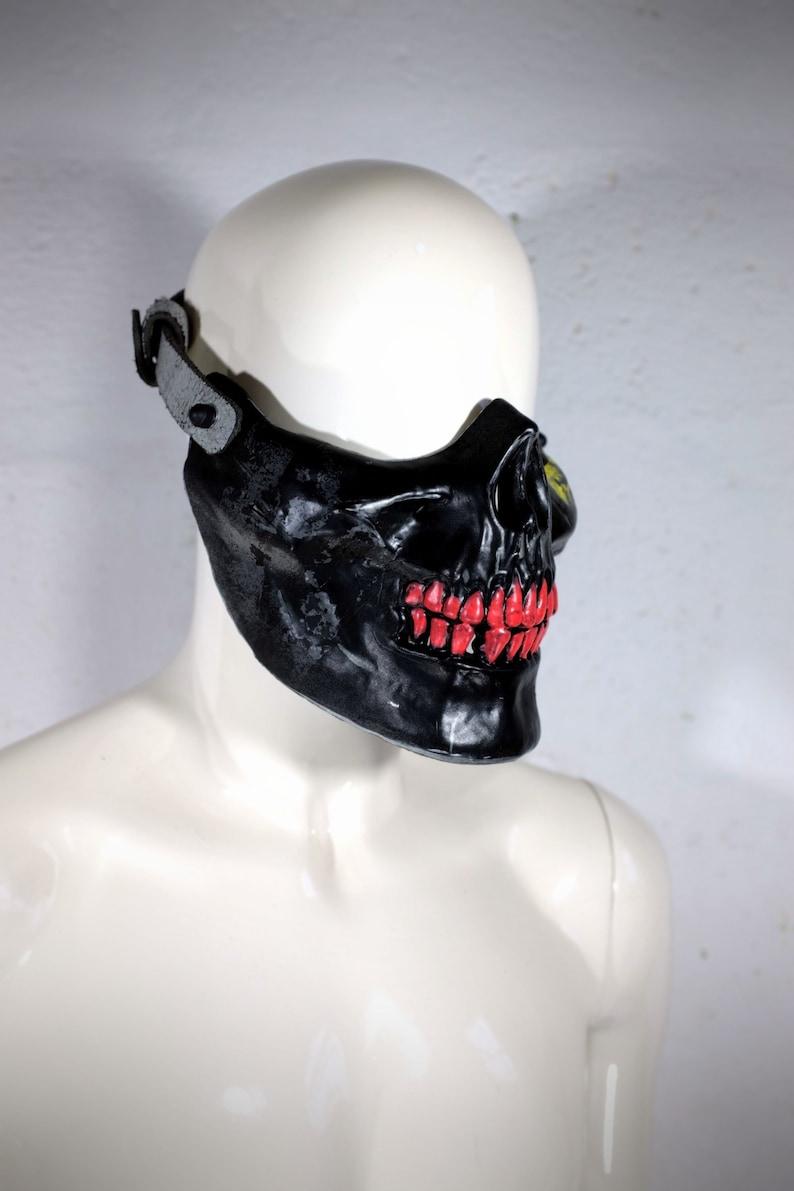 Post Apocalyptic Mask Burning Man Half Mask