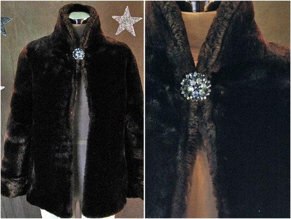 1940 faux fur coat womens