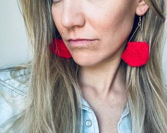 FRINGE EARRINGS - TASSEL Earrings - Macrame Earrings - Large Colorful Earrings