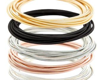 BRACELET STACK - GUITAR String Bracelets - Mix Color (Set of 50)