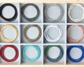 BRACELET STACK - GUITAR String Bracelets - Spring Bracelets - Stretch Bracelets - (Set of 12, 24, 50)