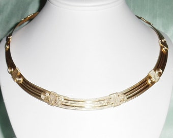 """Omega Necklace 14kt yellow gold Necklace gold hook eye closer CUSTOM MADE 20"""" x 1/2"""" wide or under"""