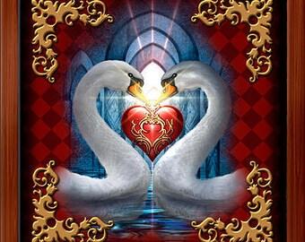 Wood Box - Lenormand Heart