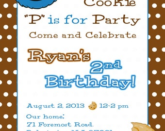 Cookie monster invitation etsy cookie monster invitation sesame street invite cookie monster party cookie monster invite cookie monster birthday party filmwisefo