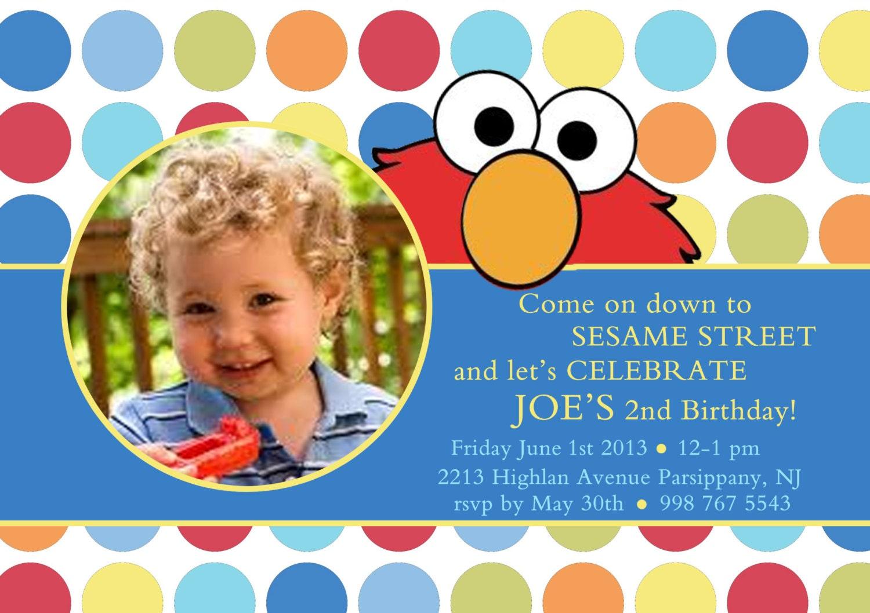 Elmo Birthday Invitation Boy Elmo Invitation Elmo Birthday Etsy