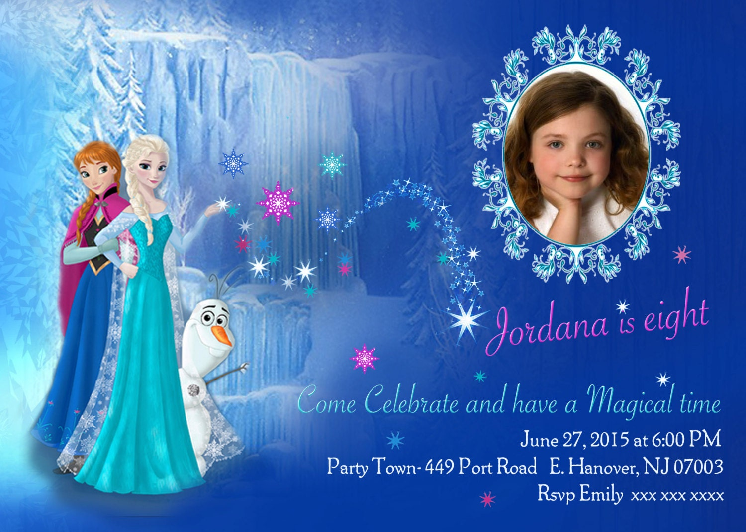 diy print frozen invitations frozen birthday invites elsa