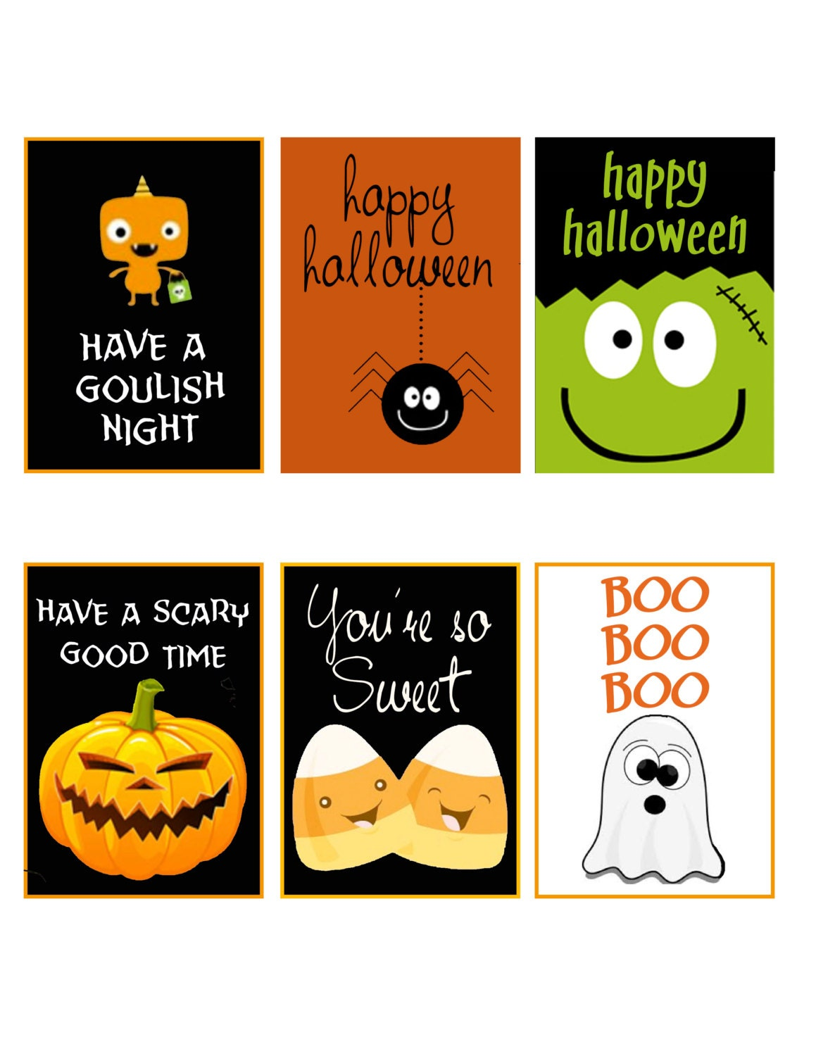 It is an image of Crazy Printable Halloween Tags