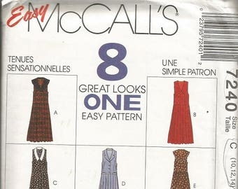 McCall's 7240 8 Great Looks Jumper and Jumpsuit Pattern SZ 10-14 CLEARANCE ITEM