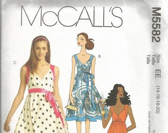 McCall's 5582 Dress Pattern  SZ 14-20