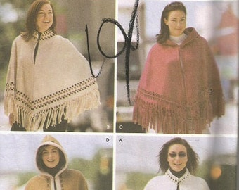 Simplicity 5330  Cape and Poncho Pattern SZ S-L   CLEARANCE ITEM