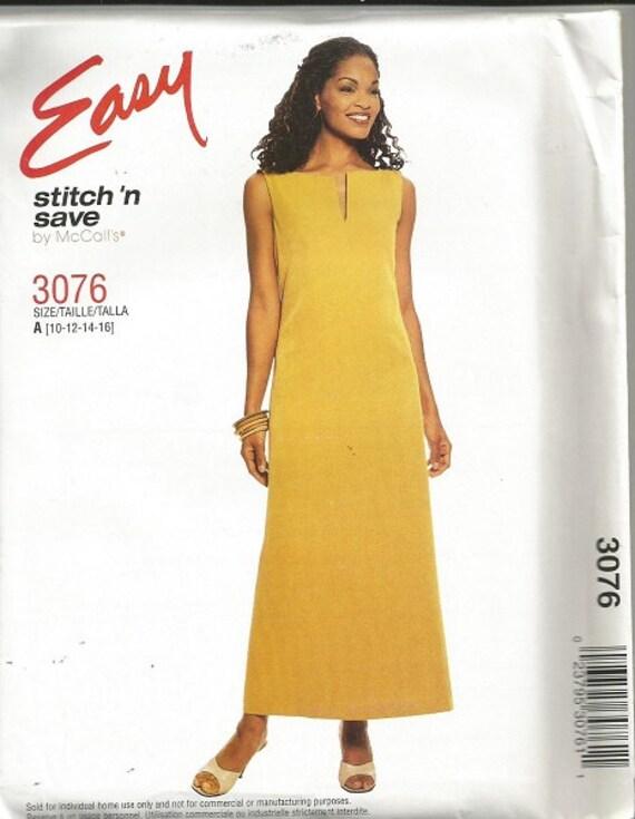 3076 fácil puntada de McCall N guardar patrón de vestido SZ | Etsy