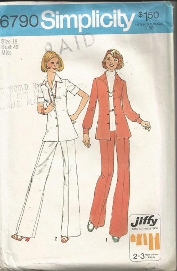 Vintage simplicidad 5790 Plus tamaño Jiffy SZ 18 patrón de