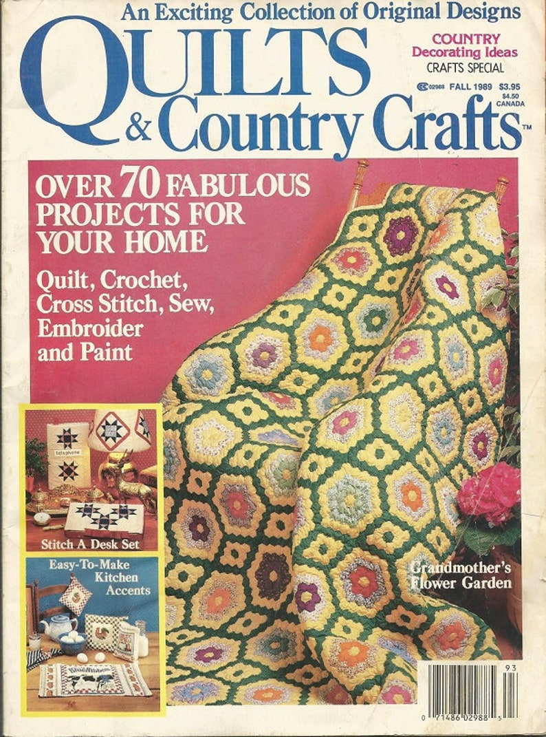 Vintage Quilts And Country Craft Magazine Etsy