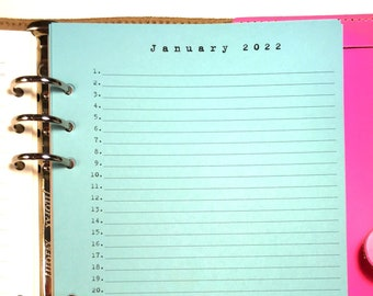 Month on 4 Pages Planner Refill