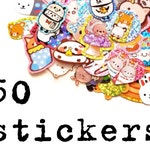 50 Kawaii Stickers, Surprise Mix