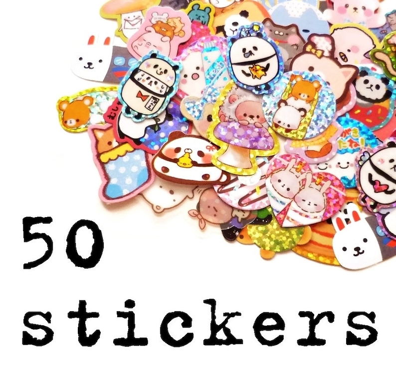 50 Kawaii Stickers Surprise Mix image 0
