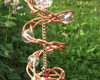 Swirling Sun Catcher Wire Wrap Copper - Garden or Home Decor
