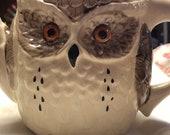 1980 Enesco Owl Tea Pot Made in Japan