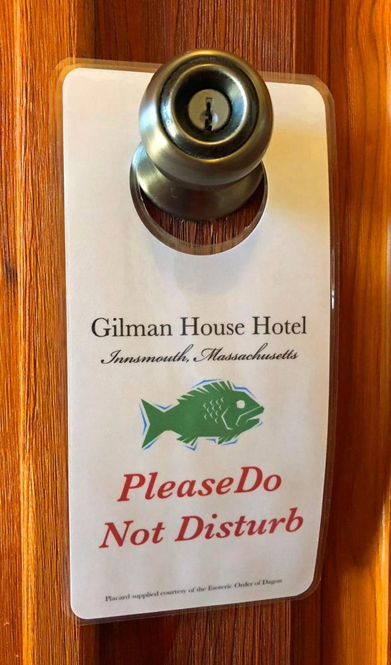 H P  Lovecraft DAGON Hotel DOOR HANGER Innsmouth Cthuhlhu