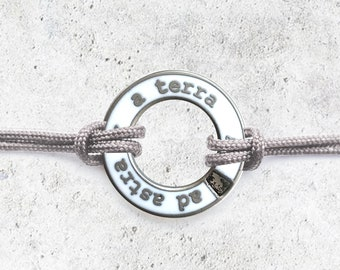 White Meteorite Dust Bracelet- Men's/Women's Astronomy Bracelet - Space Jewelry