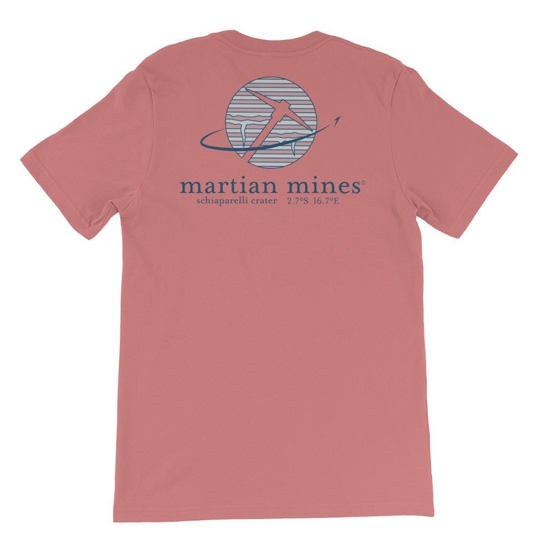 Martian Mines T Shirt Mars Parody Space Tee Astronomy Outer Space Tshirt
