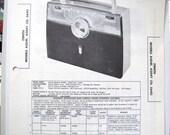 1958 Zenith Portable AM Radio Receiver 50s Photo Repair Manual
