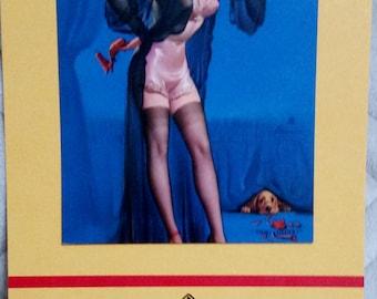 1958 Birthday Pinup Calendar Gil Elvgren Gams Girlie