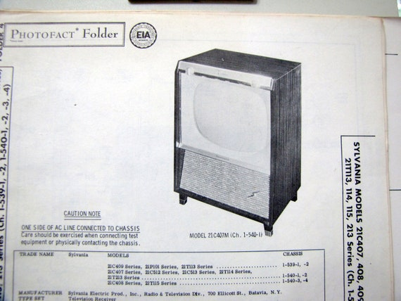 1958 Sylvania Tube Tv 50s Television Photo Repair Manual Etsy. Wiring. Sylvania Tube Radio Schematics At Scoala.co
