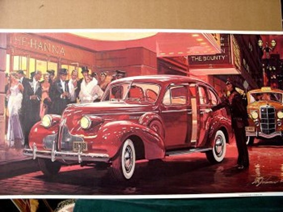 1939 Buick Roadmaster Sedan With Turn Signals Standard Wow Etsy