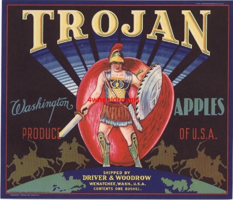 1940s Trojan Gladiator Sword and Shield Driver Woodrow WA ...