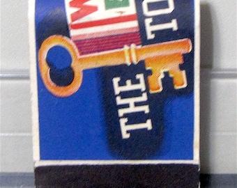 1950s Wrigleys Spearmint Chewing Gum Original Unused Full Length Matchbook
