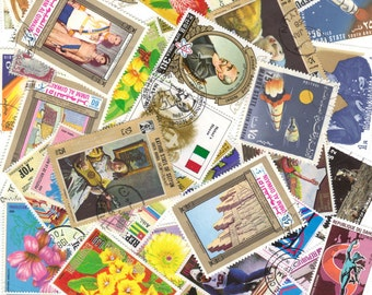 25 Postage STAMPS - Assorted STAMP selection from all over the world - Vintage