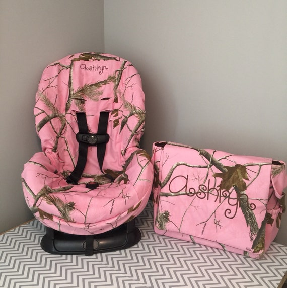 ALL PINK Realtree CAMO Fabric Toddler Car Seat Cover Diaper