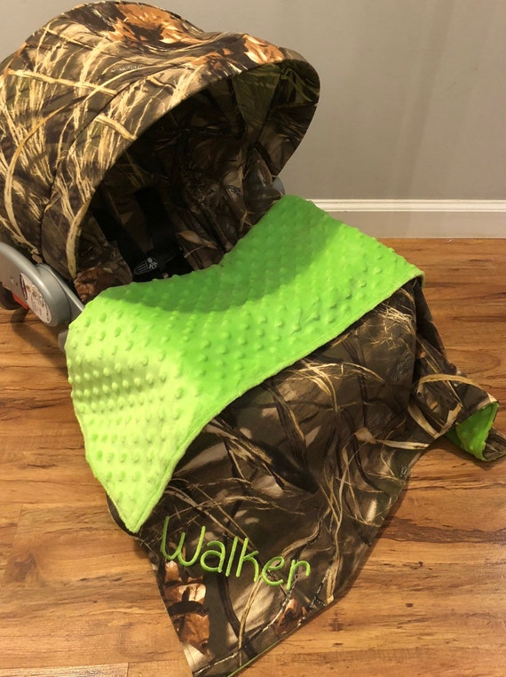 2 Piece Gift Set YOU CHOOSE CAMO All Camouflage Car Seat