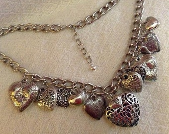 Hearts and More Hearts Necklace