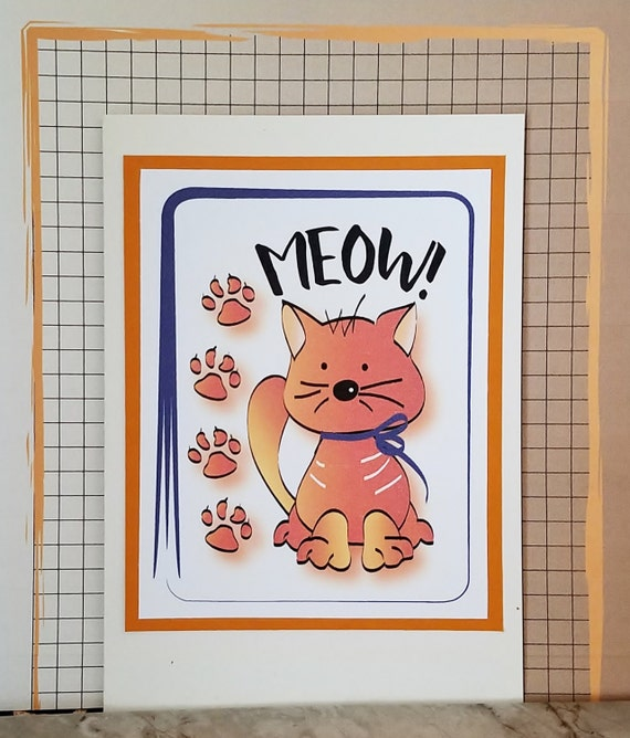 Cat Lover Birthday Card Funny Birthday Card With Cat Cute
