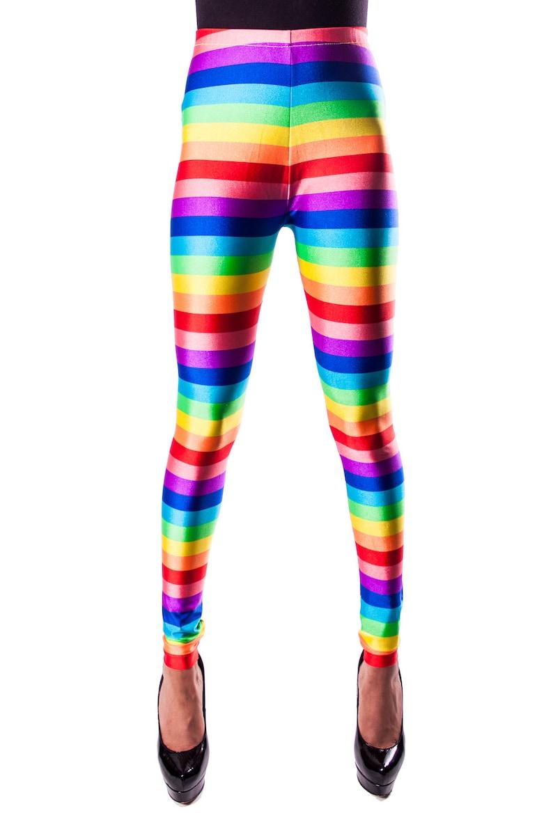 bb72e0b3fa693 Rainbow Gay Pride Leggings Rainbow Stripe Leggings Pride | Etsy