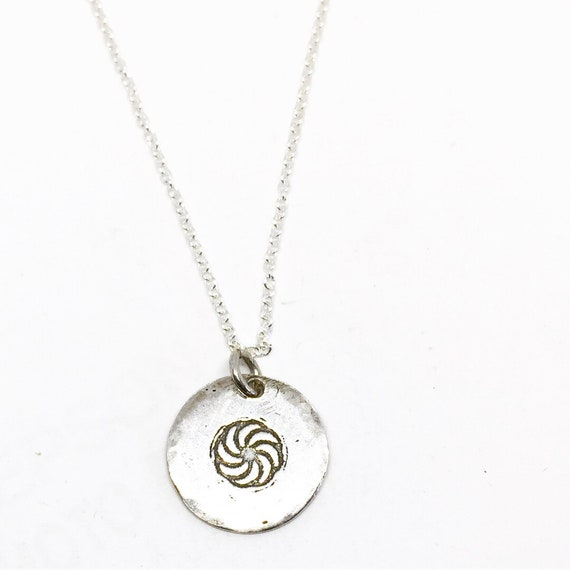 Armenian Eternity Symbol Necklace One Of A Kind Silver Etsy