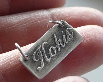 "Armenian Necklace  ""Hokis""  in  Sterling Silver..Armenian Valentine"