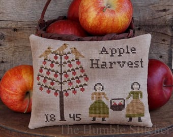 Apple Harvest...Primitive PDF Cross Stitch Pattern By The Humble Stitcher